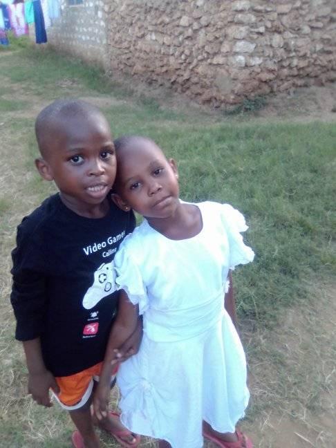 Twins, Bahati and Riziki.