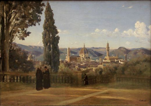 Corot, View of Florence from the Boboli Gardens