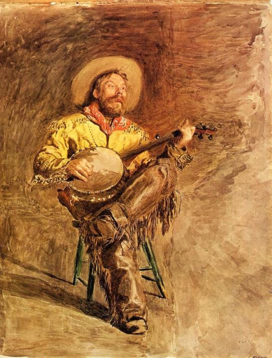 Cowboy Singing, Thomas Eakins. Public domain.