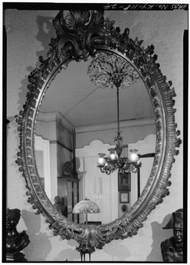 If you love this mirror, you might love ornateness, oval shapes, materials that shimmer, the color silver. National Parks Service, Public Domain via Wikimedia Commons.