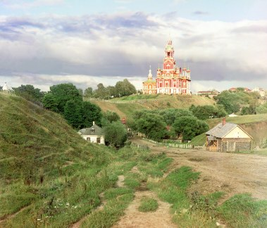 Cathedral of St. Nicholas in Mozhaisk. Between 1911 and 1912. Sergei Prokudin-Gorskii / Public domain
